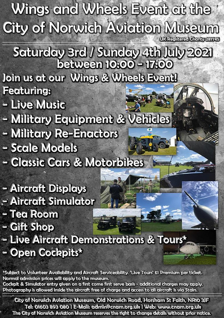 Wings & Wheels 2021 at the City of Norwich Aviation Museum image