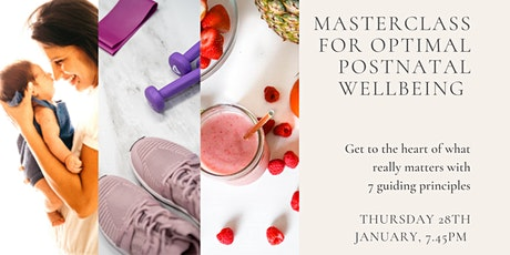 Masterclass for Optimal Postnatal Wellbeing - 7 guiding principles tickets