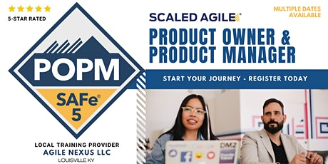 SAFe® Product Owner/Manager (POPM® 5.0 Certification) in Kentucky tickets