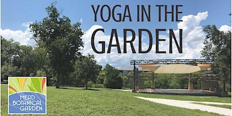 Wednesday in Yoga in the Garden tickets