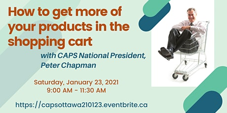 How to get more of your products in the shopping cart with Peter Chapman tickets