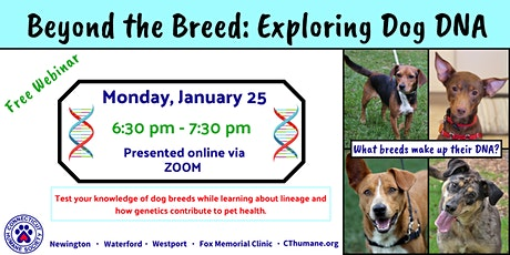 Beyond the Breed: Exploring Dog DNA Lucy Robbins Welles Library tickets