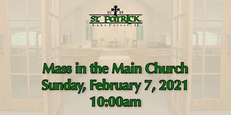 St. Patrick Church Mass, Sunday, February 7 at 10:00am tickets