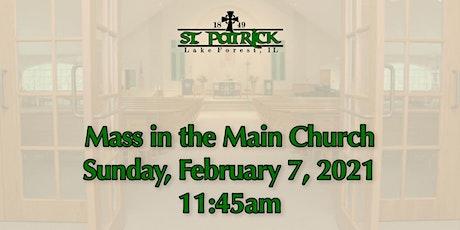 St. Patrick Church Mass, Sunday, February 7 at 11:45am tickets