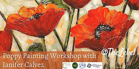 Janifer Calvez Poppy Painting Workshop tickets