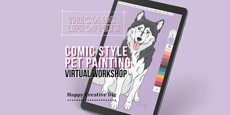[ Comic Life Of Pets ]Pop Art Pet Portrait Painting- Virtual Workshop tickets