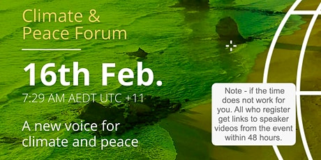 February Climate and Peace Forum tickets