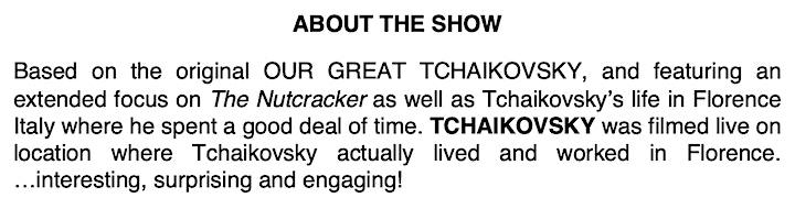 Hershey Felder Presents:  TCHAIKOVSKY - LIVE from FLORENCE image