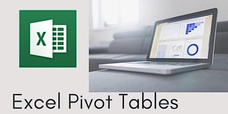 Excel - Pivot Tables & Pivot Charts  - 3 hr Zoom Workshop tickets