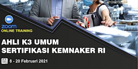 [Paid Online Training] Pembinaan Calon Ahli K3 Umum Sertifikasi Kemnaker RI tickets