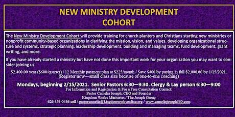 NEW MINISTRY & NONPROFIT DEVELOPMENT COHORT tickets