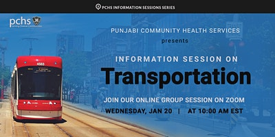 PCHS Pre-Arrival Session on Transportation (Punjabi)