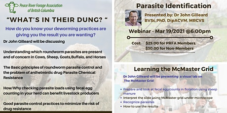 """""""What's in Their Dung? """"- Parasite Identification tickets"""