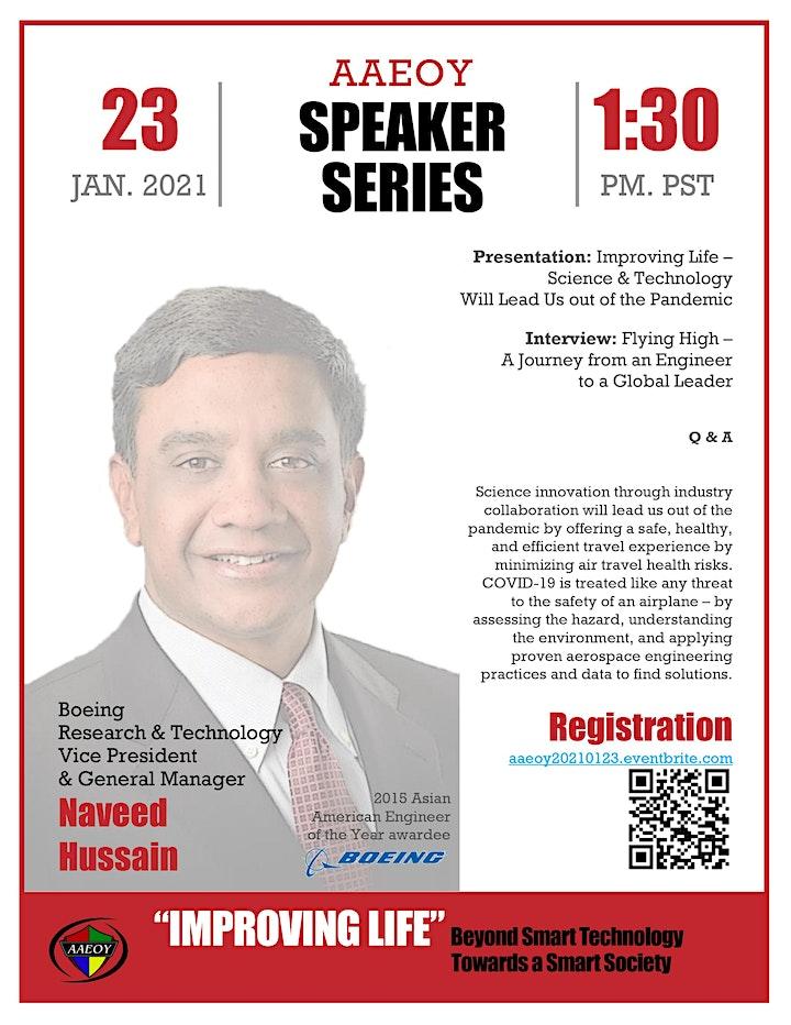AAEOY Speaker Series with Naveed Hussain, Boeing image