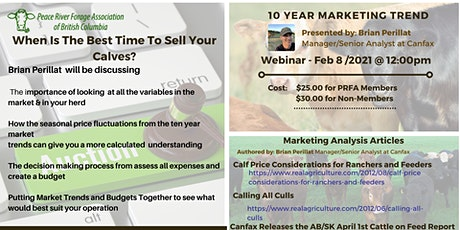 When Is The Best Time To Sell Your Calves? - 10 Year Marketing Trends tickets