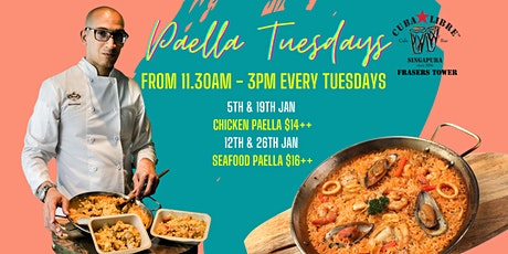Paella Tuesdays at Cuba Libre Frasers Tower tickets