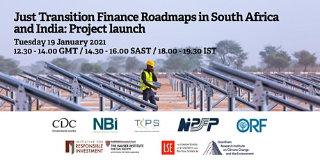 Just Transition Finance Roadmaps in South Africa and India: Project launch tickets