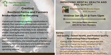 Creating Resilient Farms and Farmers tickets