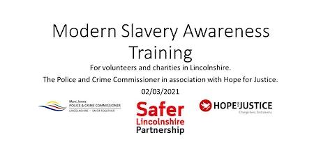 Free Modern Slavery Awareness Training for Volunteers & Charities tickets