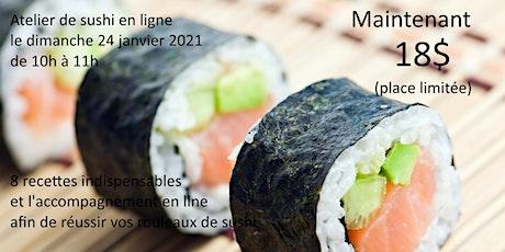 Atelier - Confectionner des rouleaux de sushi en ligne billets