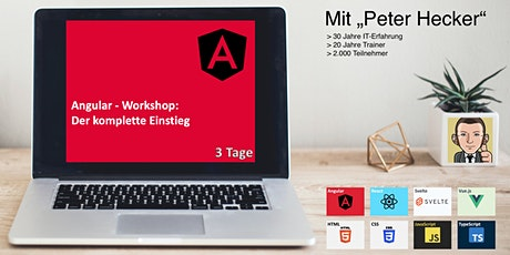 Angular Workshop - 3 Tage Online-Training: Der komplette Einstieg Tickets