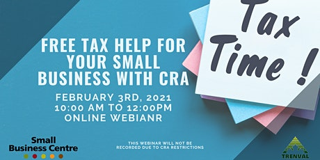 Free tax help for your small business with CRA tickets