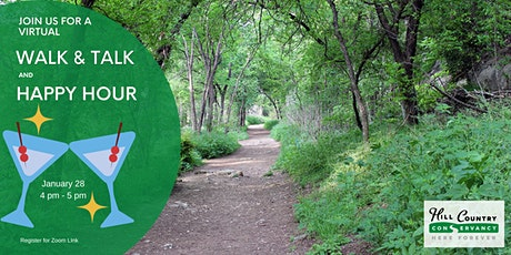 Virtual Walk-and-Talk AND Happy Hour on the Violet Crown Trail at 290 tickets