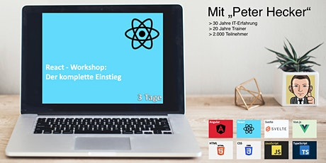 React Workshop - 3 Tage Online-Training: Der komplette Einstieg Tickets
