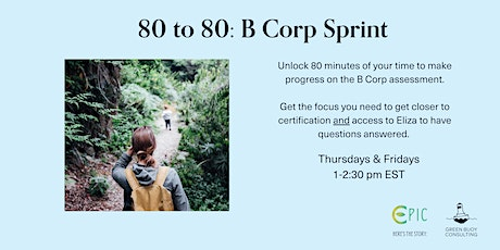 80 to 80: B Corp Sprint tickets