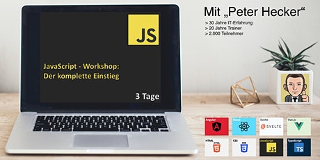 JavaScript Workshop - 3 Tage Online-Training: Der komplette Einstieg billets
