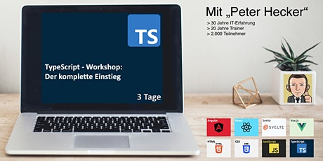 TypeScript Workshop - 3 Tage Online-Training: Der komplette Einstieg tickets