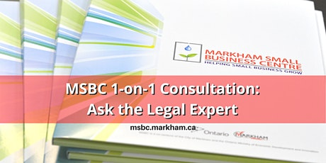 MSBC One-on-One Consultations: Ask the Legal Expert tickets
