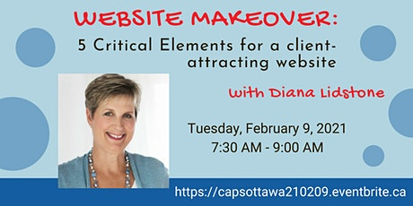 WEBSITE MAKEOVER: 5 Critical Elements for a client attracting website tickets