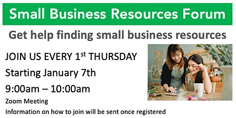 Small Business Resource Forum tickets