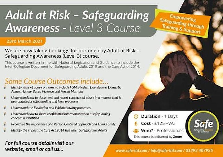 Advanced Safeguarding Adults (Level 3) image