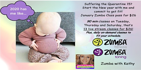 Let's Commit to get Fit Zumba Class Tue/Thurs Tickets