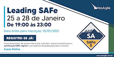 Leading SAFe com certificação SAFe® Agilist - Online - Português tickets