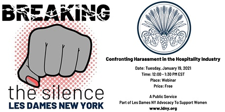 Breaking The Silence. Confronting Harassment in the Hospitality Industry. tickets