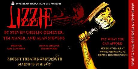 LIZZIE  (Australasian Premiere Rock Musical) tickets