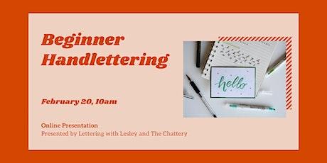 Beginner Handlettering - ONLINE CLASS + SUPPLIES tickets
