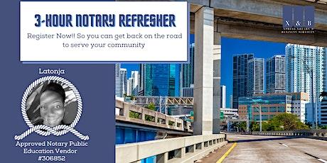 3-hr California Notary Refresher Training tickets
