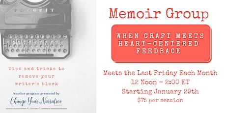 Memoir Group – When Craft Meets Heart-Centered Feedback tickets