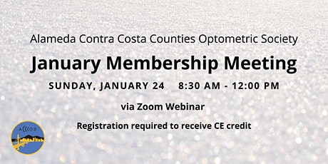 ACCCOS January Membership Meeting tickets