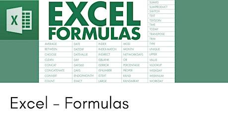 Excel - Using complex formulas  - 3 hr Zoom Workshop tickets