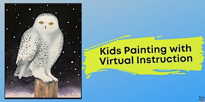 Snowy Owl Painting for Kids (Virtual Instruction)