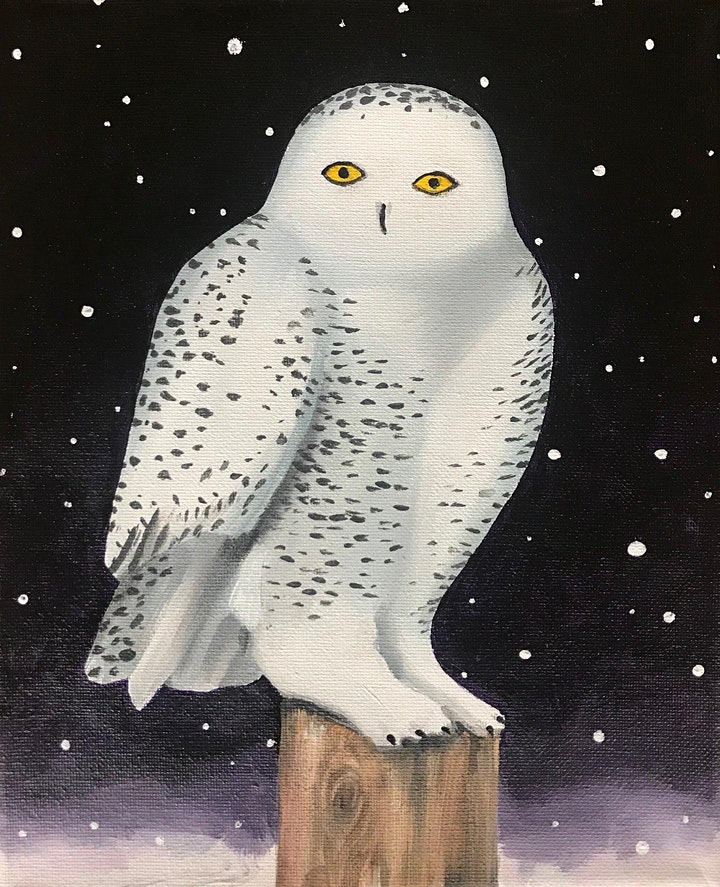 Snowy Owl Painting for Kids (Virtual Instruction) image