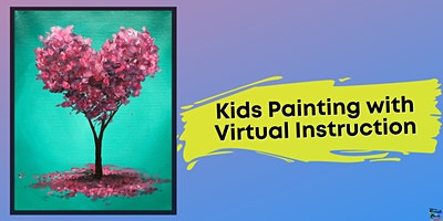 Heart Tree Painting for Kids (Virtual Instruction)