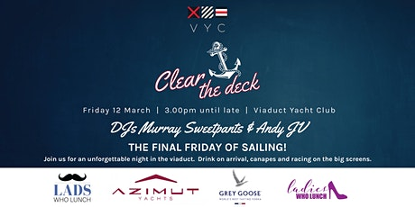 Clear the Deck!  Sailing party tickets