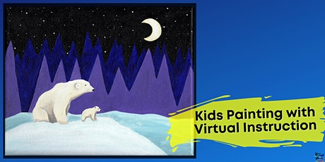 Polar Bears Painting for Kids (Virtual Instruction) tickets