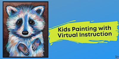 Rocky Raccoon Painting for Kids (Virtual Instruction)